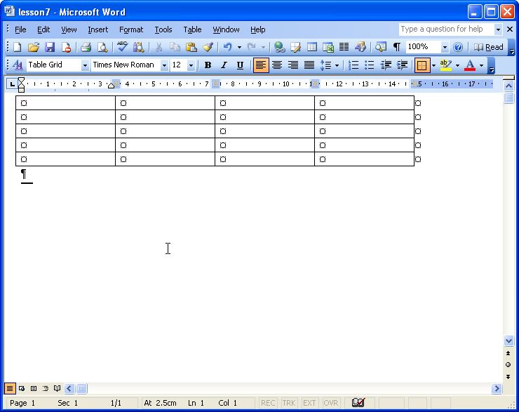 working with columns in microsoft word