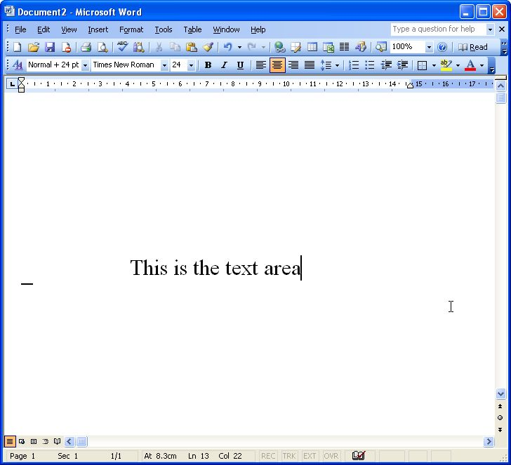 Lesson One: Microsoft Word for Windows